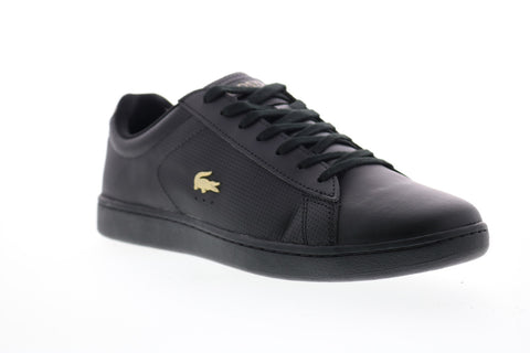 Lacoste Carnaby Evo 0120 1 Mens Black Leather Lace Up Lifestyle Sneakers Shoes
