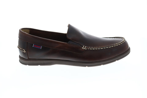Sebago Litesides Mens Brown Leather Casual Dress Loafers Shoes