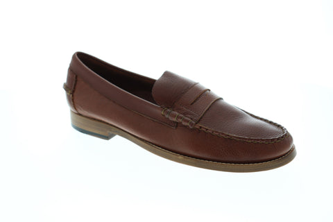 Sebago Legacy Penny Mens Brown Leather Casual Dress Slip On Loafers Shoes