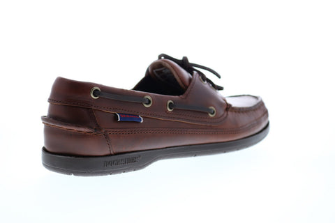 Sebago Schooner 7000GD0 Mens Brown Leather Loafers & Slip Ons Boat Shoes