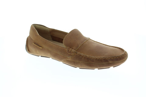 Sebago Kedge Venetian Mens Brown Leather Casual Dress Slip On Loafers Shoes