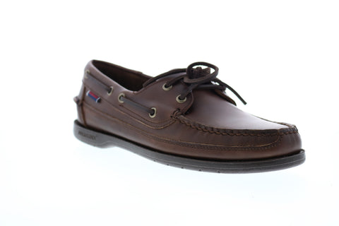 sebago schooner 7000gd0 mens brown leather casual lace up