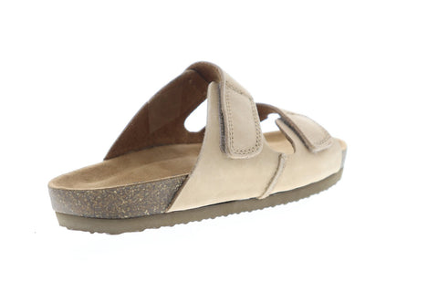 Eastland Caleb Mens Tan Suede Slides Strap Sandals Shoes