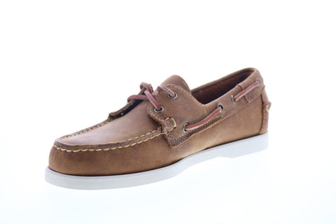 Sebago Portland Crazy Horse 70015H0 Mens Brown Leather Casual Lace Up Boat Shoes