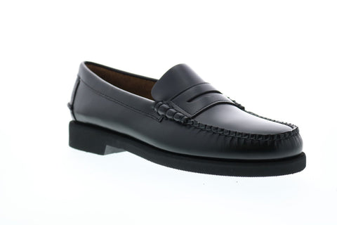 Sebago Dan Polaris 7001GW0 Mens Black Leather Loafers & Slip Ons Penny Shoes