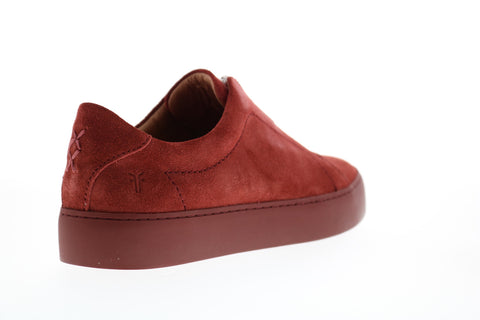 Frye Lena Zip Low 70284 Womens Red Leather Low Top Lifestyle Sneakers Shoes