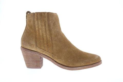 Frye Alton Chelsea 70349 Womens Brown Suede Zipper Booties Boots