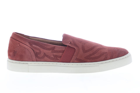 Frye Ivy Primrose Slip On 70371 Womens Pink Suede Lifestyle Sneakers Shoes