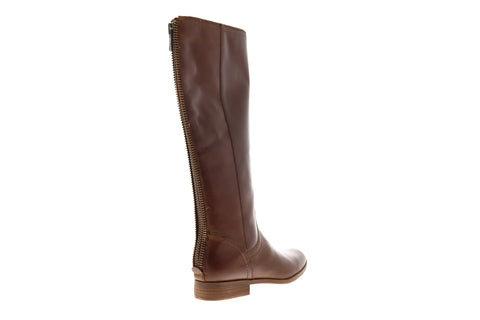 Frye Jolie Back Zip 70691 Womens Brown Leather Tall Zipper Casual Dress Boots