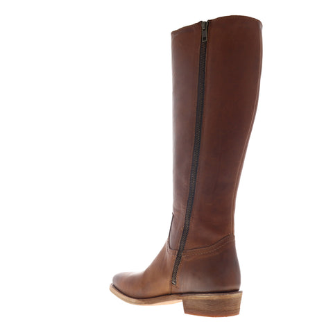 Frye Billy Inside Zip Tall 70810 Womens Brown Leather Zipper Casual Dress Boots