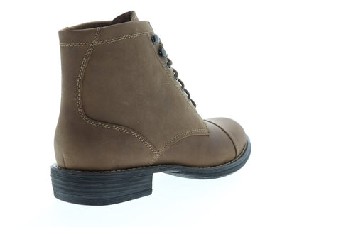 Eastland High Fidelity Mens Brown Leather Casual Dress Lace Up Boots Shoes