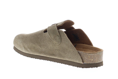 Eastland Gino Mens Gray Suede Slides Strap Sandals Shoes
