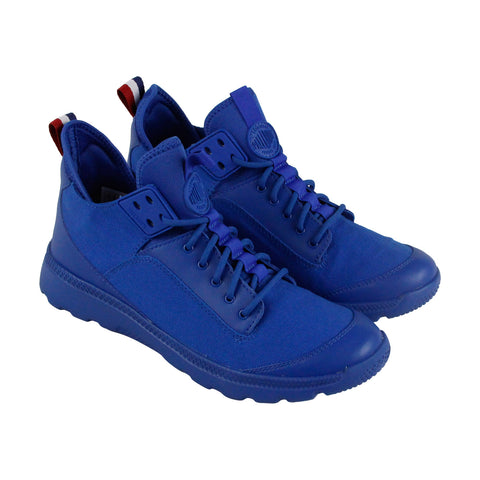 Palladium Desvilles Mens Blue Canvas High Top Lace Up Sneakers Shoes