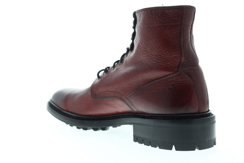 Frye Greyson Lace Up 80012 Mens Red Leather Casual Dress Boots Shoes