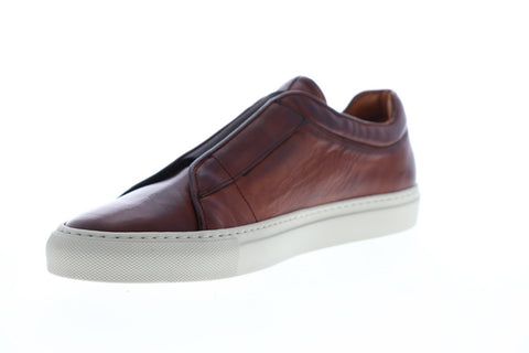 Frye Owen Low Gore 80015 Mens Brown Leather Slip On Sneakers Shoes