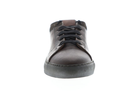Frye Owen Oxford Mens Gray Leather Low Top Lace Up Sneakers Shoes