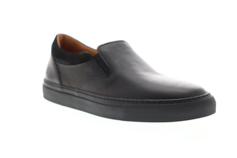 Frye Owen Gore Mens Black Leather Slip On Sneakers Shoes