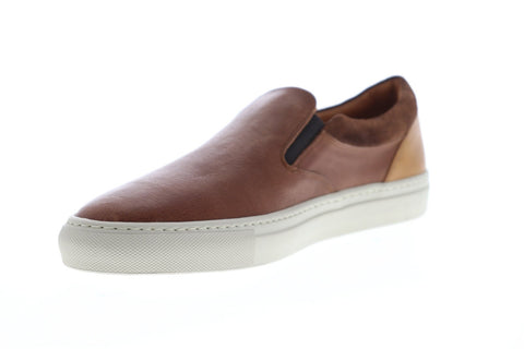 Frye Owen Gore Mens Brown Leather Slip On Sneakers Shoes
