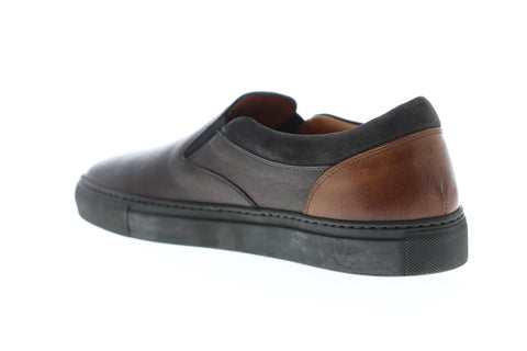 Frye Owen Gore Mens Gray Leather Slip On Sneakers Shoes
