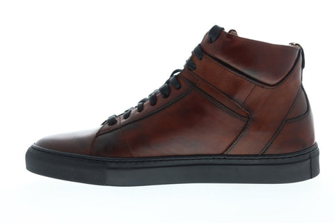 Frye Owen High 80033 Mens Brown Leather Lace Up High Top Sneakers Shoes