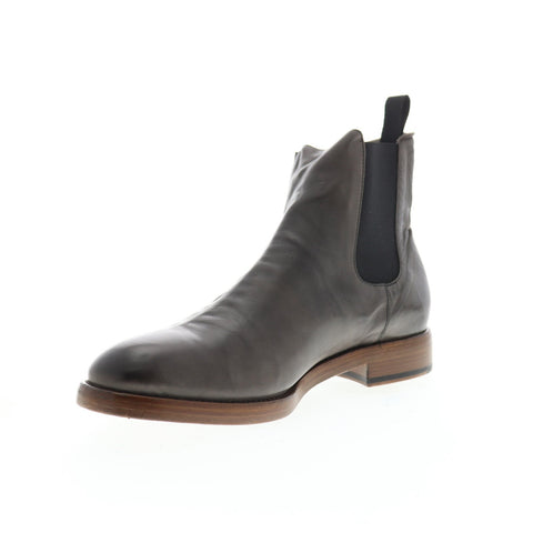 Frye Chase Chelsea 80040 Mens Gray Leather Slip On Boots Shoes