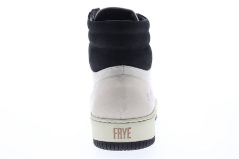 Frye Wythe High 80060 Mens Off White Leather Casual Dress Boots Shoes
