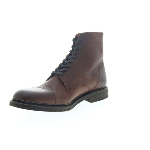 Frye Seth Cap Toe 80081 Mens Brown Leather Lace Up Casual Dress Boots Shoes