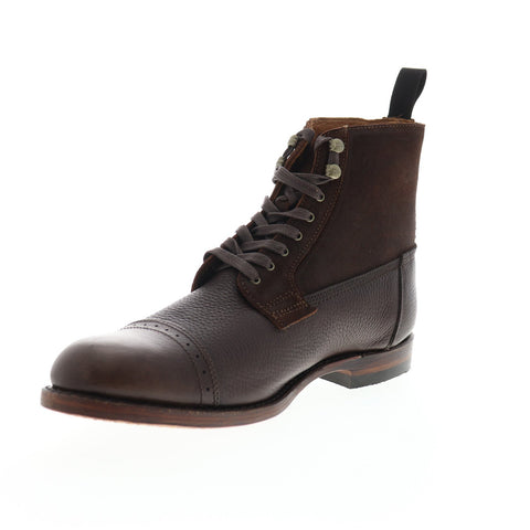 frye garrison boot 80092 mens brown leather lace up casual
