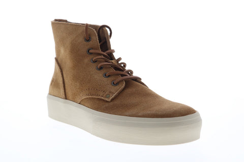 Frye Beacon Lace Up 80095 Mens Brown Suede Lace Up High Top Sneakers Shoes