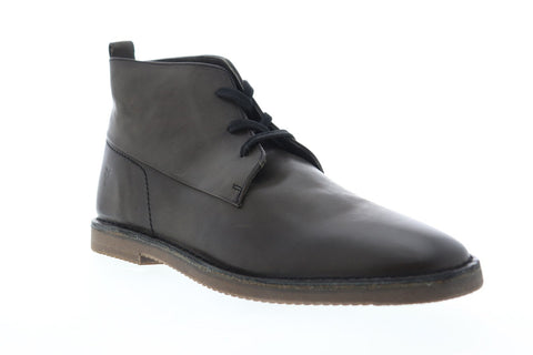 Frye Ashland Chukka 80183 Mens Gray Leather Lace Up Chukkas Boots Shoes