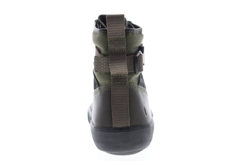 Frye Combat Lace Up Mens Green Canvas Casual Dress Lace Up Boots Shoes