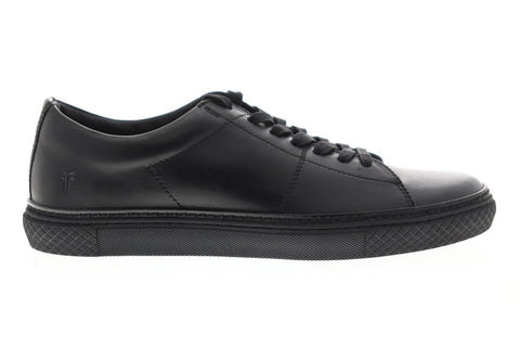 Frye Essex Low 80217 Mens Black Leather Lace Up Low Top Sneakers Shoes