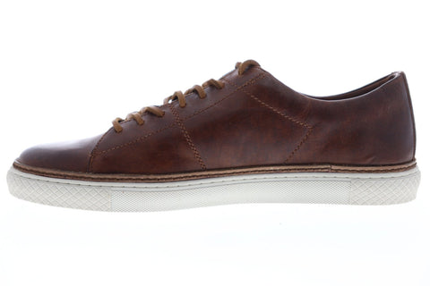 Frye Essex Low Mens Brown Leather Low Top Lace Up Sneakers Shoes