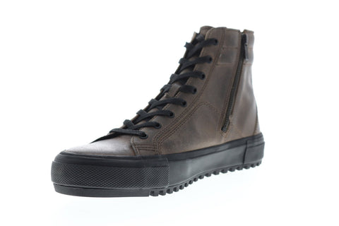 Frye Varick High Mens Gray Leather High Top Lace Up Sneakers Shoes