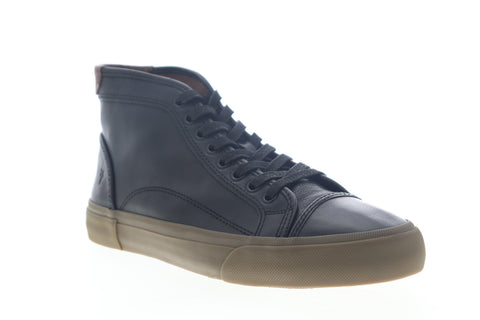 Frye Ludlow Cap Toe High 80253 Mens Black Leather Lifestyle Sneakers Shoes