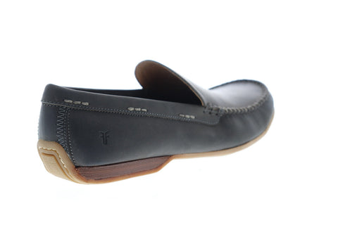 Frye Lewis Venetian Mens Gray Leather Casual Dress Slip On Loafers Shoes