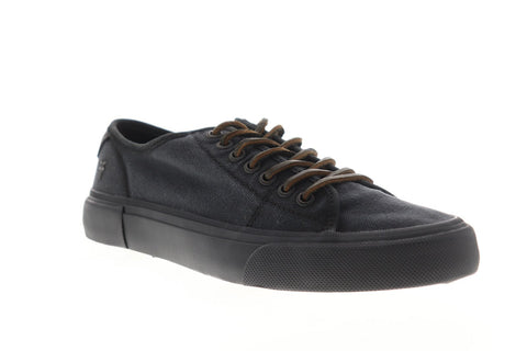 Frye Ludlow Low 80262 Mens Black Canvas Lace Up Low Top Sneakers Shoes