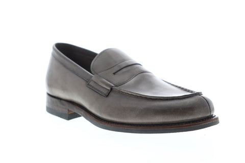 Frye Murray Penny 80270 Mens Gray Leather Casual Slip On Loafers Shoes