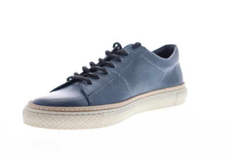 Frye Essex Low 80350 Mens Blue Leather Lace Up Low Top Sneakers Shoes
