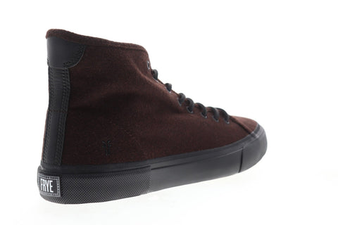 Frye Ludlow High 80366 Mens Red Suede Lace Up High Top Sneakers Shoes