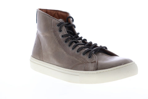 Frye Walker Midlace 80442 Mens Gray Leather Lace Up High Top Sneakers Shoes