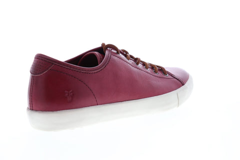 Frye Brett Low 80449 Mens Red Leather Low Top Lace Up Lifestyle Sneakers Shoes
