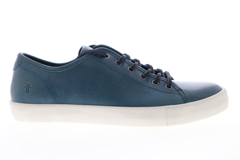 Frye Brett Low 80449 Mens Blue Leather Lace Up Low Top Sneakers Shoes