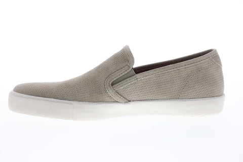 Frye Brett Perf Slip On 80499 Mens Gray Leather Low Top Lifestyle Sneakers Shoes