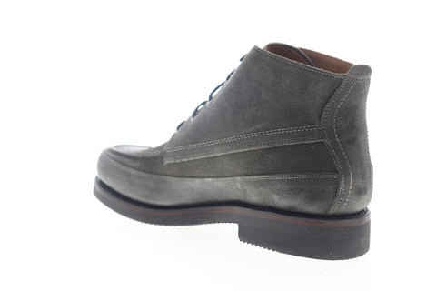 Frye Field Lace Up 80567 Mens Gray Leather High Top Casual Dress Boots