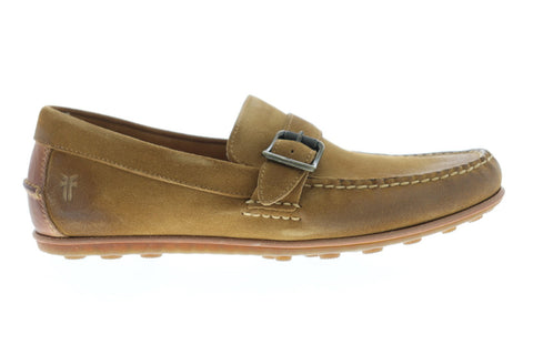 Frye Harris Buckle Mens Brown Suede Casual Dress Slip On Loafers Shoes