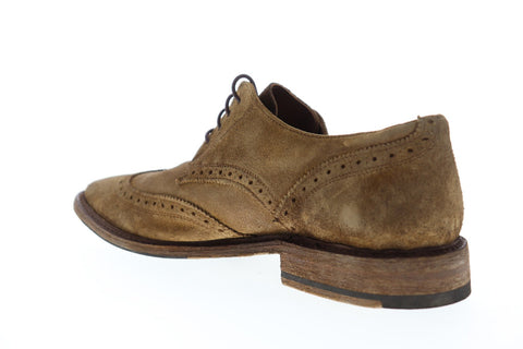 Frye Paul Wingtip 80598 Mens Brown Suede Casual Lace Up Oxfords Shoes