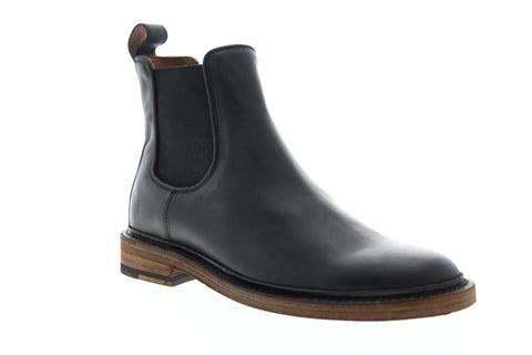 Frye James Chelsea 80687 Mens Black Leather Chelsea Slip On Boots Shoes