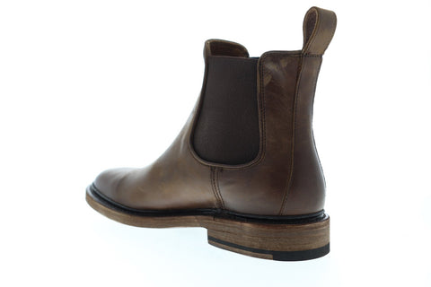 Frye James Chelsea 80687 Mens Brown Leather Chelsea Slip On Boots Shoes
