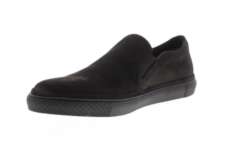 Frye Gates Slip On 81157 Mens Black Nubuck Leather Lifestyle Sneakers Shoes